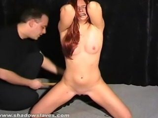 Debutant slave slut Chaos in harsh pussy tortures and strict BDSM domination...