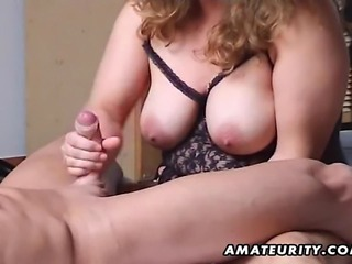 A chubby and busty amateur Milf homemade hardcore action with fuck and a nice...