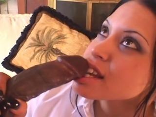 Hot Latin Babe and BIG Black Dick