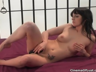 Sexy brunette amateur girl showing her pussy