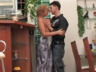 Perfect russian mature with young guy