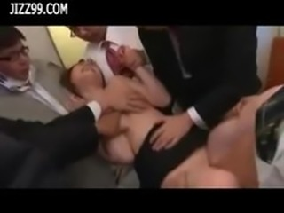 beauty office lady group fucked by train geek