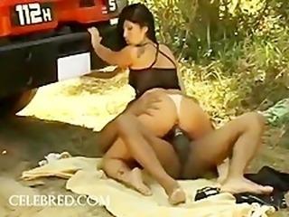 Hot Cougar Isabella Interracial Rectal