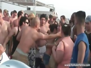 Hard party time on the beach and babes part5
