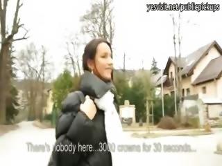 Skinny amateur Czech girl pussy stuffed in hotel for cash