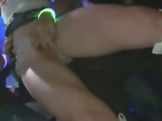 Reluctant Girl grope in a dance club