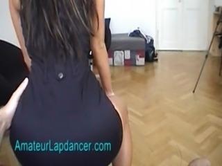 Sexy lapdancer Radka shakes her ass free