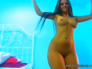 Best awesome brunette tanned teen babe naked