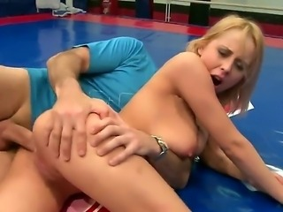 He promises Mandi to give her a good fuck in the ass if she defeats her...