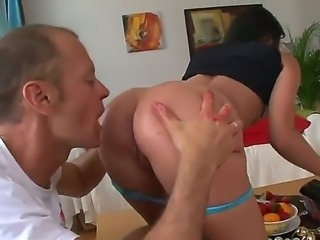 Tina Gabriel gets her anal stuffed with strawberries before getting it licked...