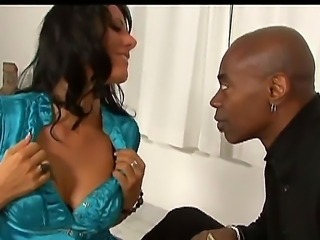 Black stud Sean Michaels pays up brunette hottie Zoey Holloway to suck and...