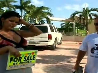 Just watch this amazing action where dude seduces gorgeous big tittied milf...