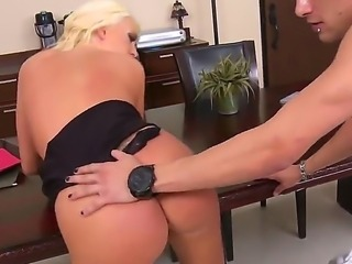 Wonderful blonde Summer Brielle with her huge boobs doing some hot and nasty...