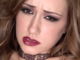 The old-fashioned pornstar Victoria Black masturbates her shaved pussy in...