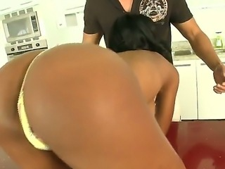 Tight ass arousing amateur Kiki Armani with natural juicy hooters teases and...