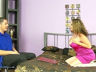 The sympathetic pornstar Kiki Daire with a big natural boobs makes a good...
