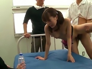 Hardcore scene with beautiful sexy Japanese miss Rin Sakuragi fooling around