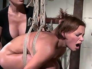 Candy and Jesika Gold have hardcore adventure where the girls spank their own...