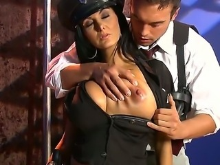 The huge titted police officer Ava
