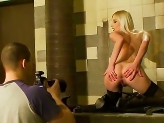 Hardcore and hot backstage scene with a horny girls Angel Rivas and Lena Cova