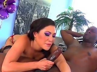 Big dicked Lexington Steele gets to fuck hot asian London Keyes in her ass...