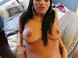 Superb brunette Sophia Bella likes having her round ass deep pounded by horny...