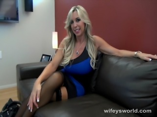 Beautiful interior decorator with huge tits will do anything to close the...