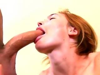 Busty alluring blonde slut Jodi gives a hard stiff veiny dicked will a bj...