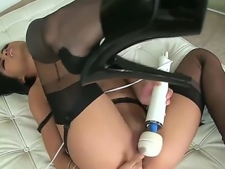 Adorable black haired asian Cindy Starfall with smoking hot body and heavy...