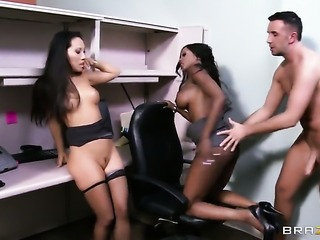 Asa loves getting a little office nookie from her coworker Keiran, and she...
