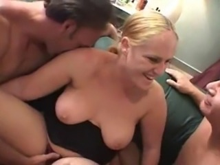 Amateur MMF Bisex Threesome - Blond BBW