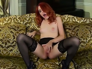 Young cute redhead Amarna Miller with natural perky boobies and sweet firm...