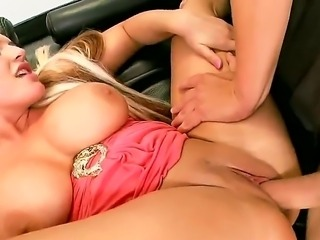 Horny bitch Sadie Swede feeling horny and craving for doggy style persuades a...