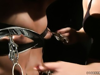 Brunette Betty Stylle has some lesbian sex fantasies to be fulfilled with...