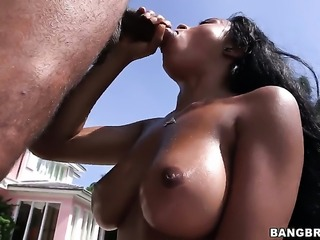 Anya Ivy with juicy butt does lewd things and then gets her pretty face...