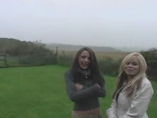 2 sexy english girls lez it up then get a good fucking