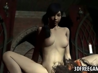 Mouth watering 3D cartoon brunette vixen enjoying getting her wet pussy...