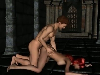 Tasty 3D cartoon nun getting her pussy pounded