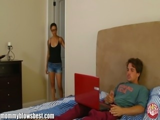 MommyBB Dana Vespoli caughts her stepson jerking off! free