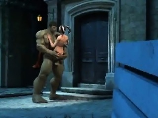 3D Harley Quinn gets fucked by The Incredible Hulk