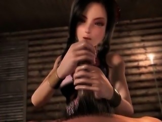 Animated lady giving sex fantasy