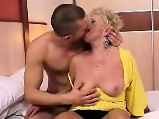 Chubby Blonde Granny Is Really Horny