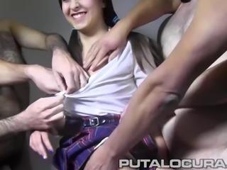 PUTA LOCURA Amateur Teen Bukkake