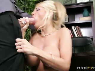 Kayla Kayden with giant knockers has a good time doing it with horny guy Danny D
