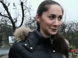 Real amateur Czech slut Aruna Aghora drilled for cash