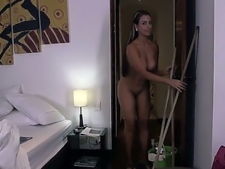 Sofia is a Latina maid who has to clean up the place before she can give the...