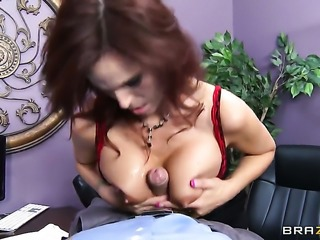 Syren De Mer with giant hooters and her hot bang buddy Ramon enjoy anal sex...