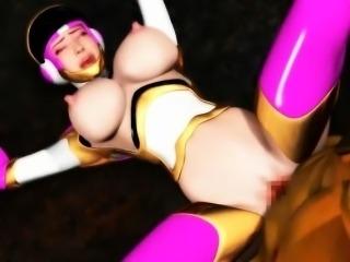 3D anime slut gives oral sex