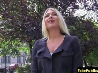 Public euro amateur pussyfucked on backseat