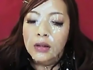Bukkake For A Beautiful Asian Chick
